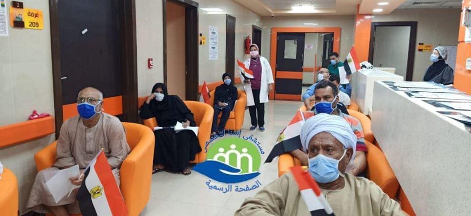 خروج 13 حالة شفاء من كورونا بمستشفى إسنا للحجر الصحى (5)