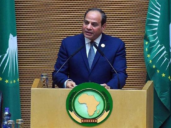 خطاب الرئيس السيسى في الاتحاد الأفريقي (1)