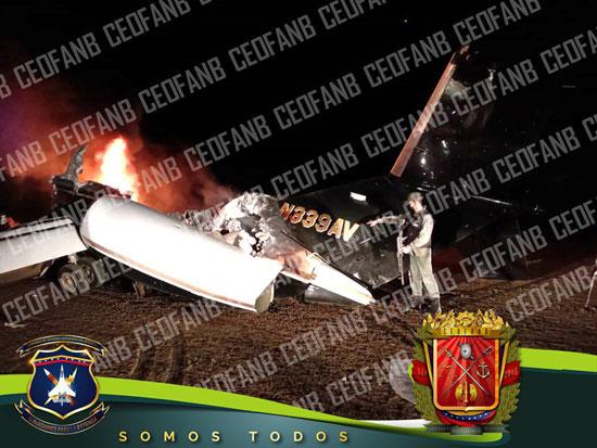 جانب-من-الطائرة-التى-أسقطها-الجيش-فى-فنزويلا