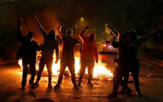 تظاهرات في مدينة فالبارايسو الساحلية