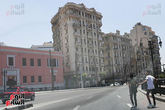 شوارع وسط البلد بدون زحام