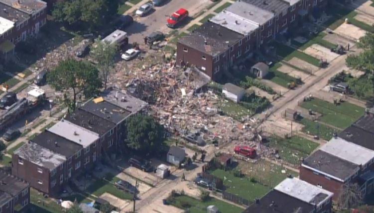 تدمير منازل بسبب الانفجار