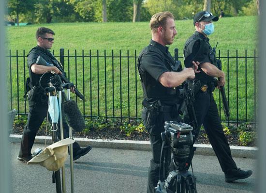 أفراد الأمن فى البيت الأبيض