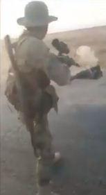 لحظة اطلاق الرصاص على المدنيين
