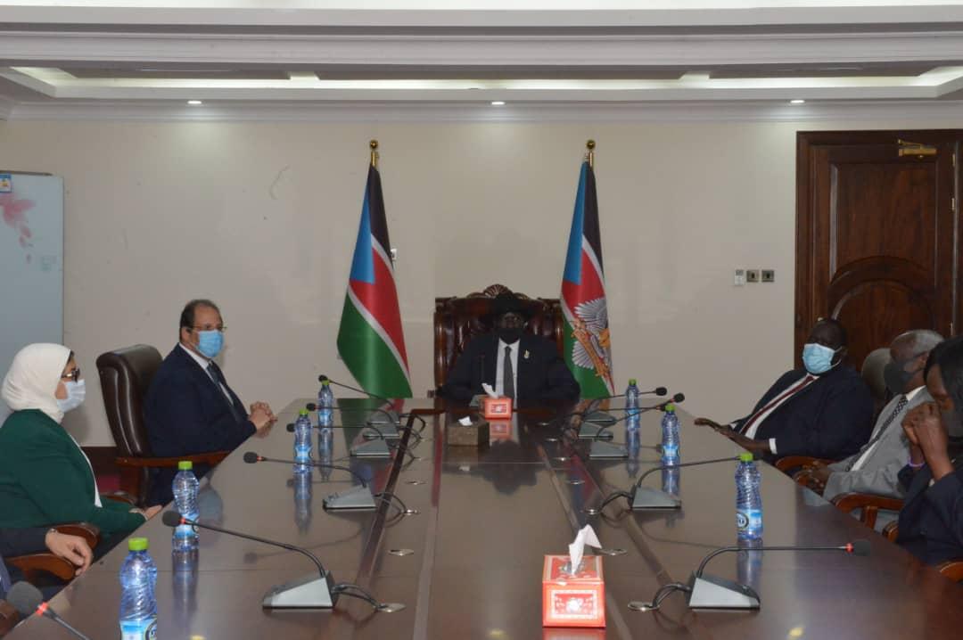 اجتماع الوزير عباس كامل وسلفاكير رئيس جنوب السودان