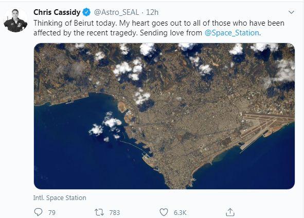 رائد الفضاء يوجه رسالة للبنانيين
