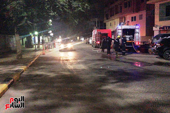 السيطرة على حريق داخل شقة سكنية فى شارع الثورة (1)