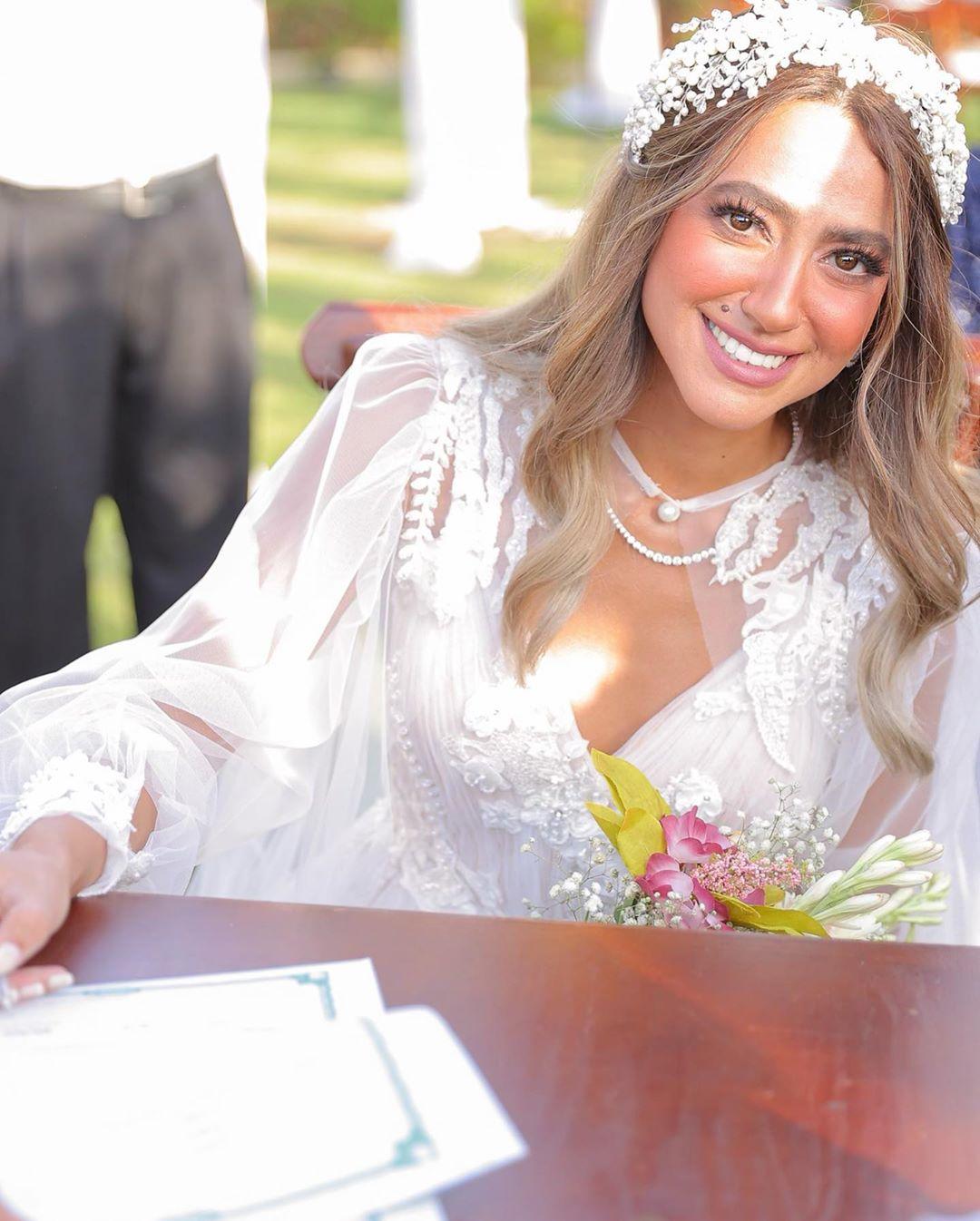 حفل زفاف الفنانة هند عبد الحليم (2)