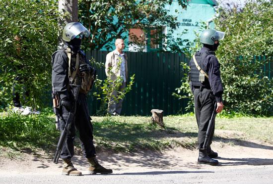 انتشار مكثف من شرطة بيلاروسيا
