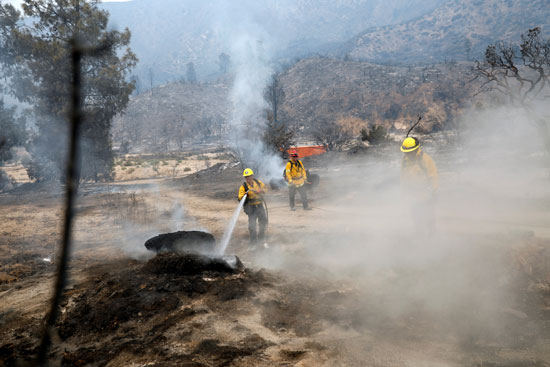 رجال الإطفاء لم يستطيعوا السيطرة على الحريق