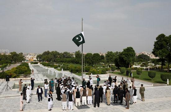 مسؤولون في باكستان يحتفلون بعيد الاستقلال
