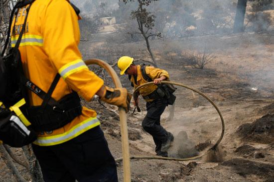 ما يقرب من 900 شخص يحاولون احتواء الحريق
