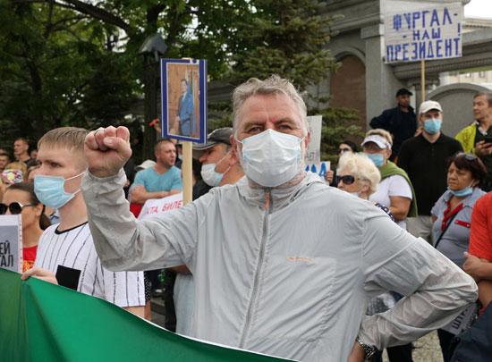 مسيرات ضد قرار الكرملين بإقالة حاكم خاباروفسك