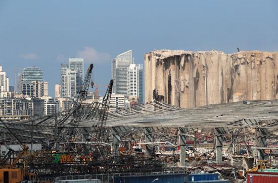 مشهد عام لأضرار انفجار بيروت
