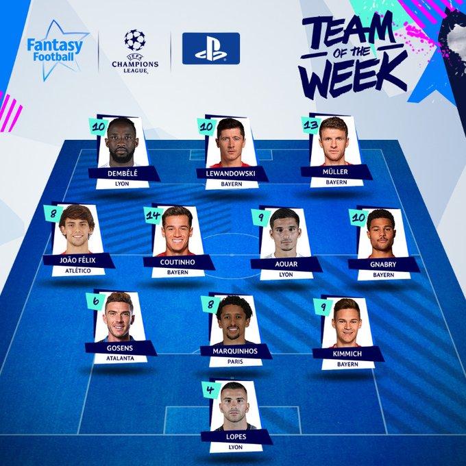 التشكيل المثالى لربع نهائى دوري أبطال أوروبا