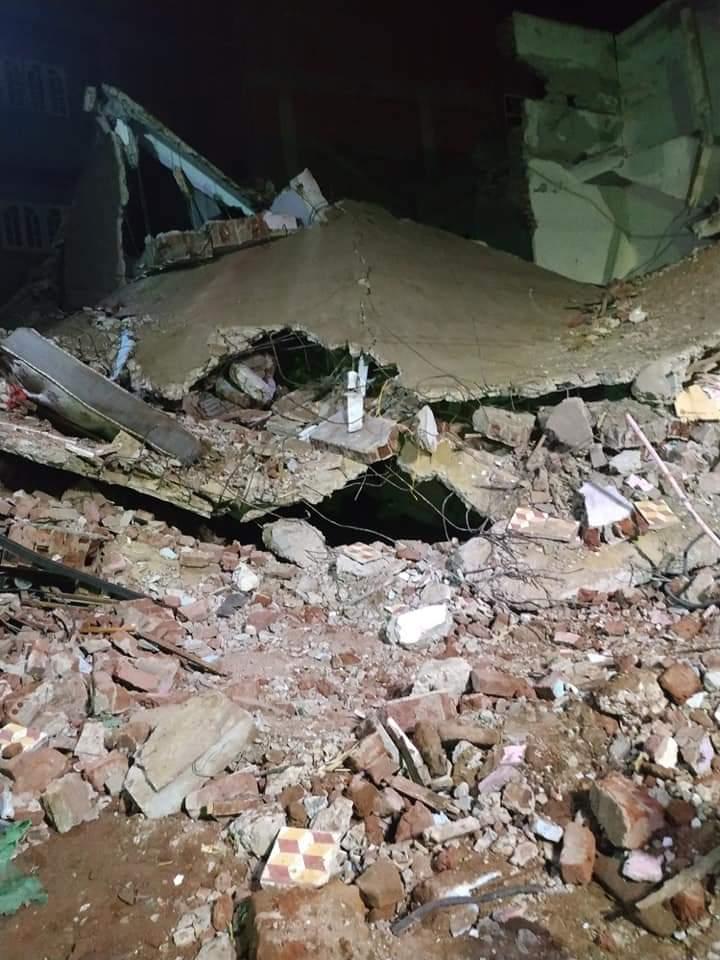 العقار المنهار نتيجة انفجار اسطوانة غاز (3)