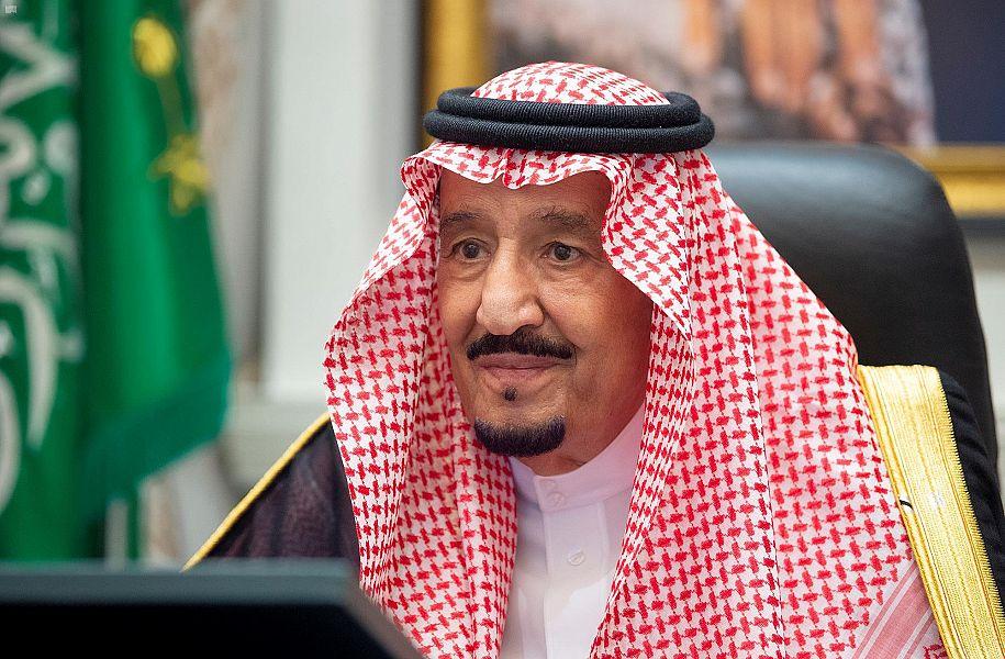 الملك سلمان يترأس جلسة مجلس الوزراء السعودى عن طريق الاتصال المرئى صور اليوم السابع