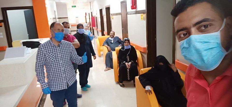 مستشفى العديسات للعزل بالأقصر تعلن خروج 9 حالات شفاء جديد  (1)