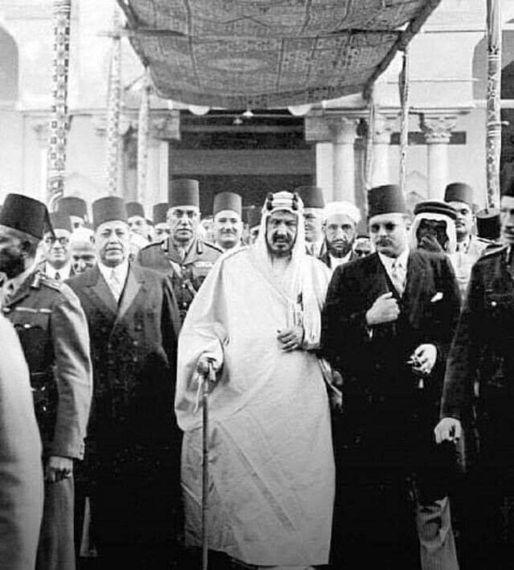 الملك فاروق والملك عبد العزيز