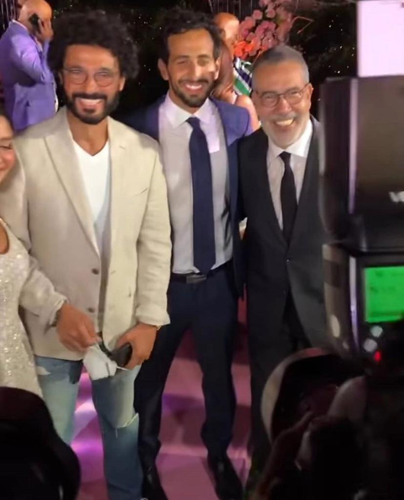 الفنان خالد النبوي في حفل خطوبة ابنة مدحت  العدل