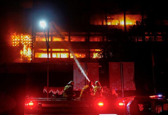 حريق بمكتب النائب العام الاندونيسي