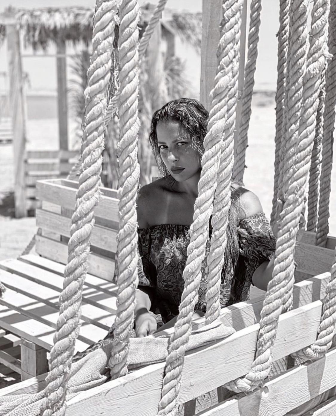 ريم مصطفى فى المصيف