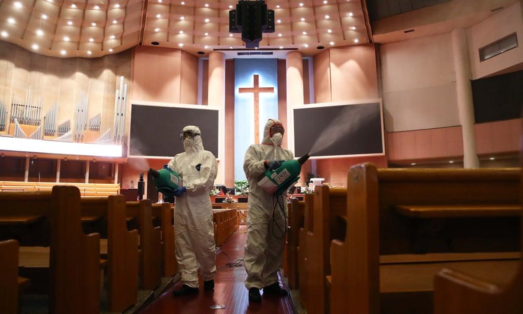 تطهير كنيسة بكوريا الجنوبية