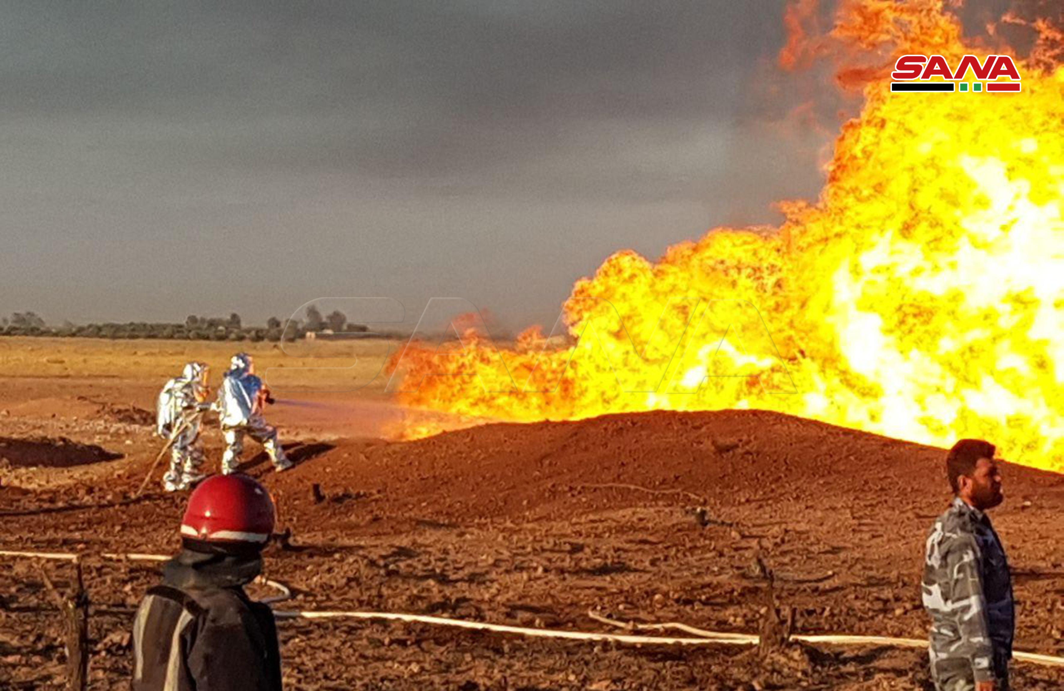 قوات الدفاع المدنى تحاول السيطرة على النيران