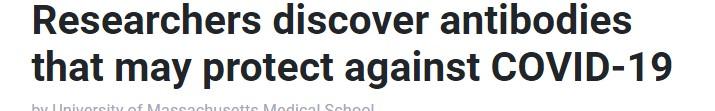 اكتشاف اجسام مضادة قد تحمى من كورونا