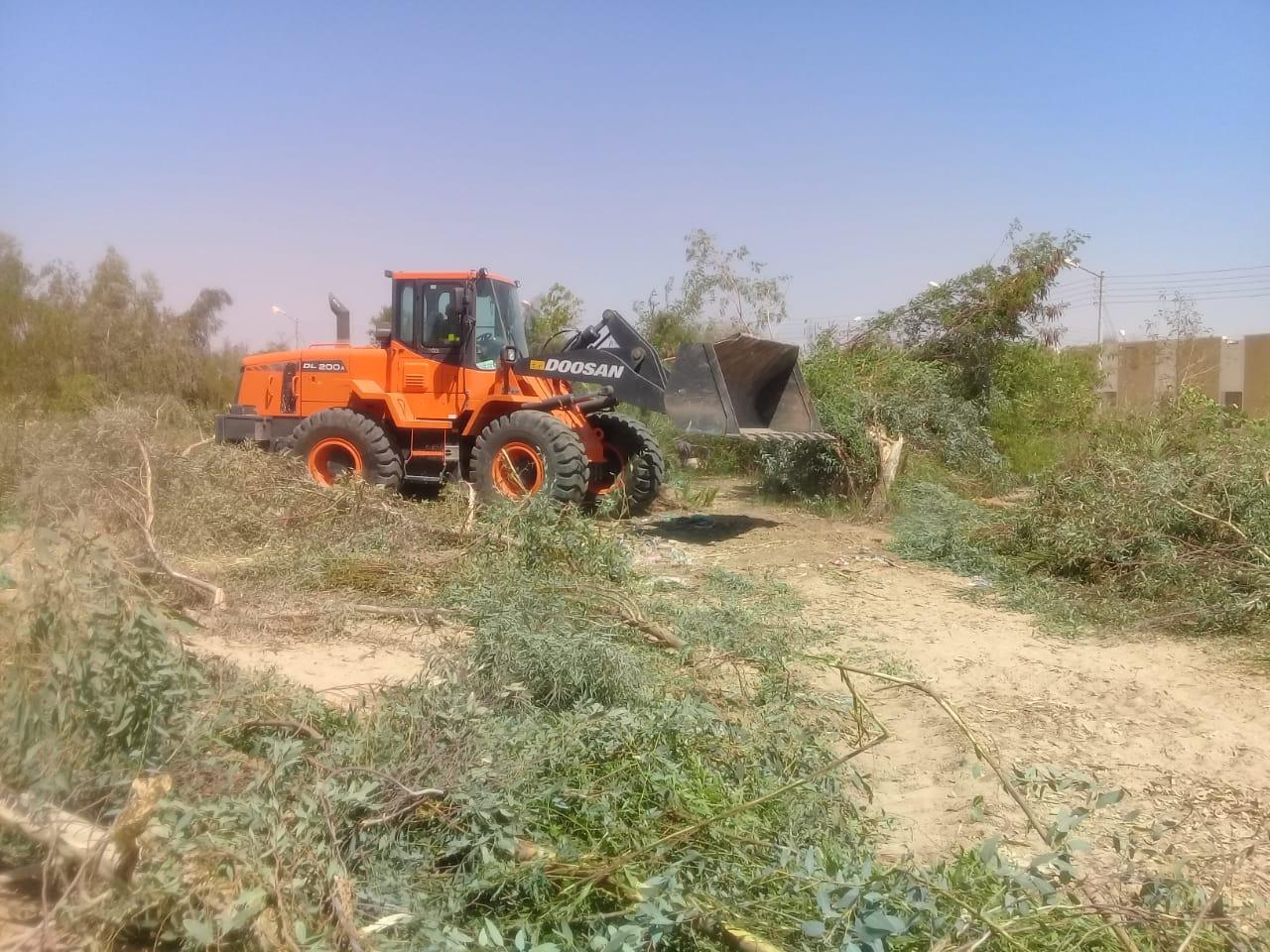 إزالة وتنفيذ 10 قرارات لتعديات على أراضى الدولة بمدينة القرنة  (3)