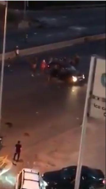 تكسير سيارة في منطقة خلدة