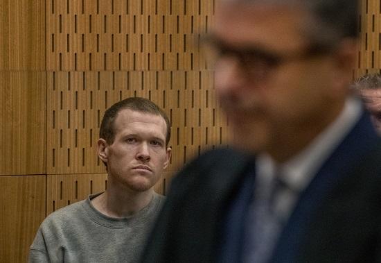 برينتون تارانت خلال المحاكمة