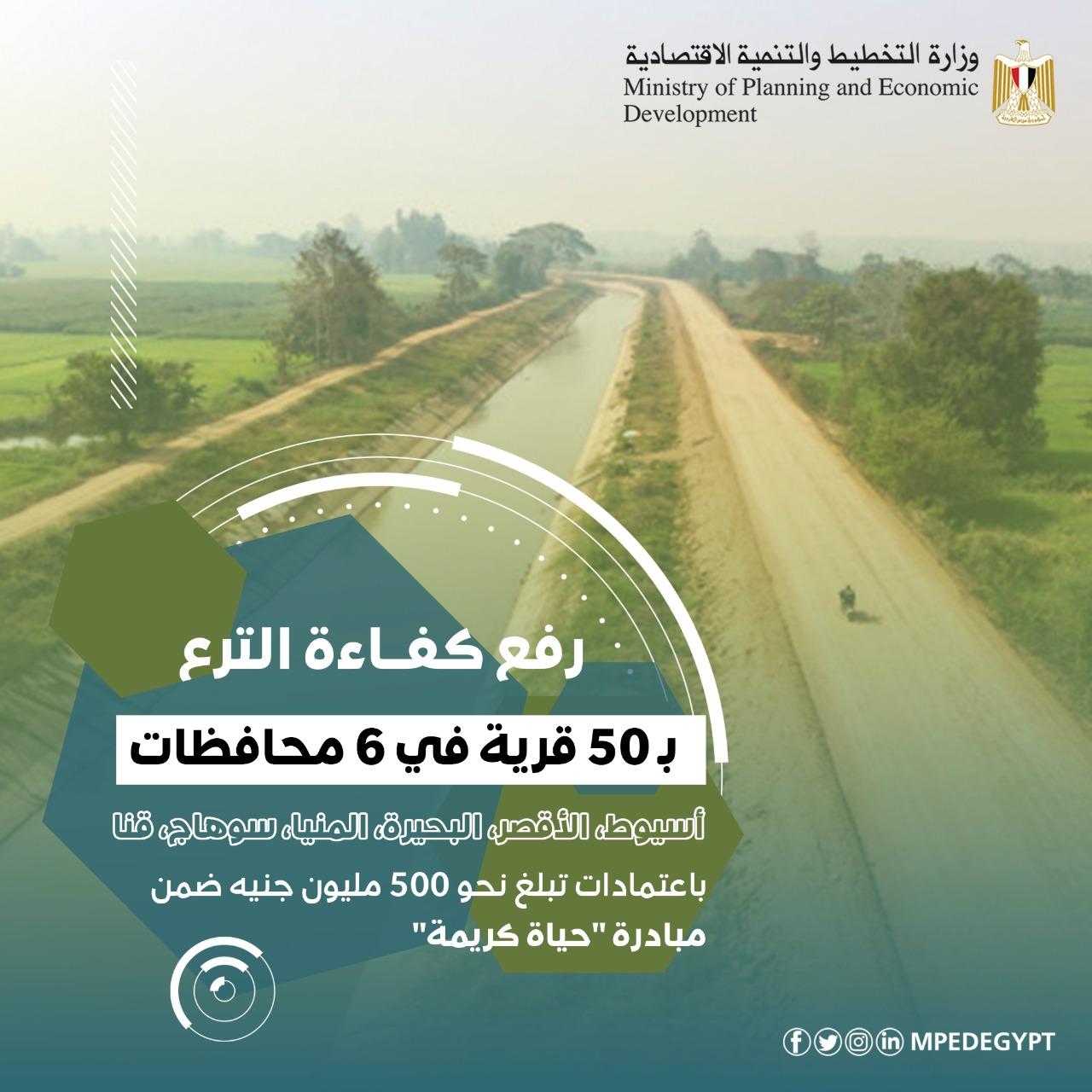 رف كفاءة الترع بـ50 قرية في 6 محافظات