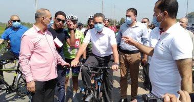 مشاركة محافظ الغربية بمهرجان دراجتك صحتك