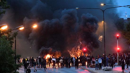 جانب من العنف فى السويد