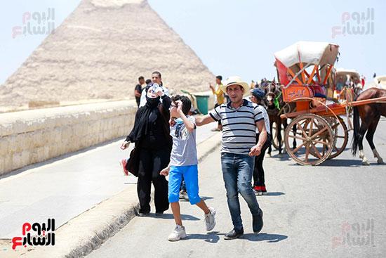 عائلات مصرية فى الأهرامات