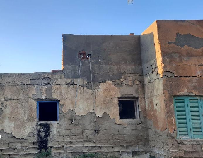 شروخ وتصدعات بمساكن 6 اكتوبر بسيناء  (1)