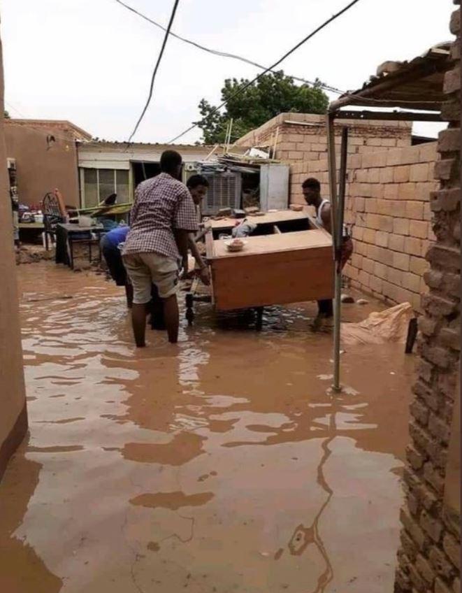غرق منازل في الإزيرقاب