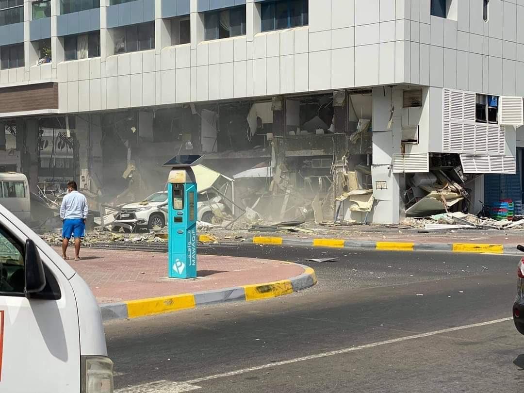 انفجار المطعم فى ابو ظبى