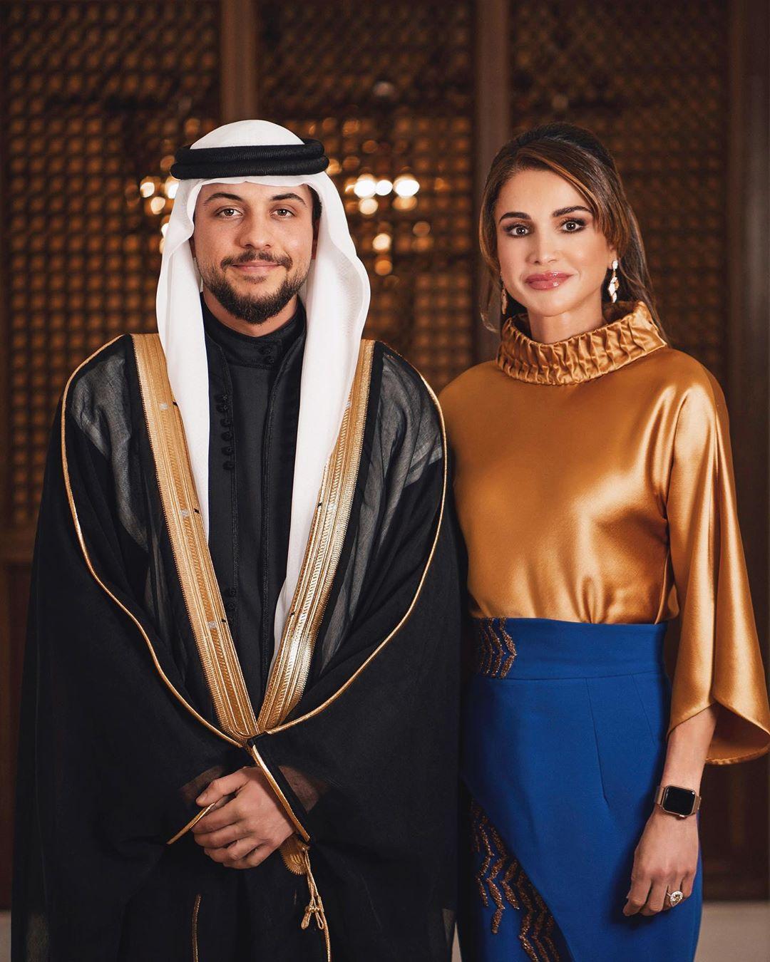 ولى العهد والملكة رانيا