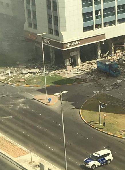 الشرطة تطوق مكان الانفجار