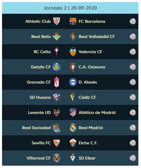 02 الجولة الثانية من الدوري الإسباني