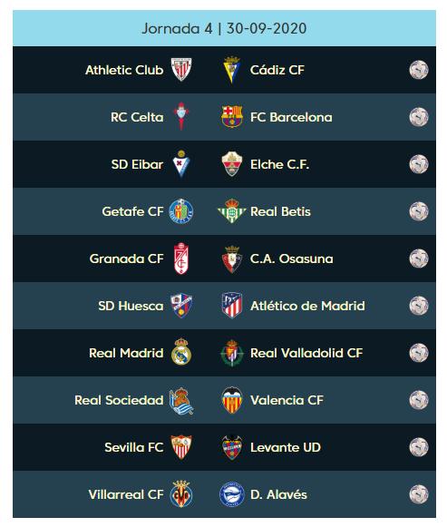 04 الجولة الرابعة من الدوري الإسباني