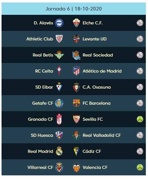 06 الجولة السادسة من الدوري الإسباني