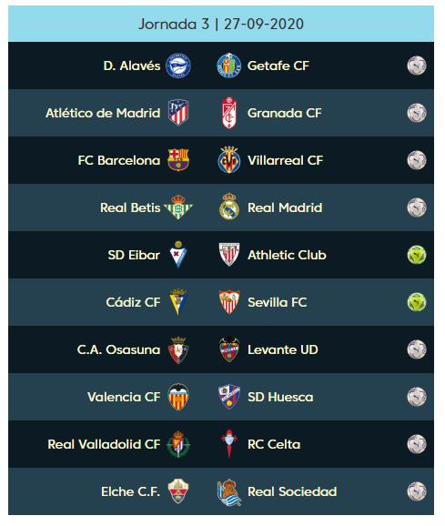 03 الجولة الثالثة من الدوري الإسباني