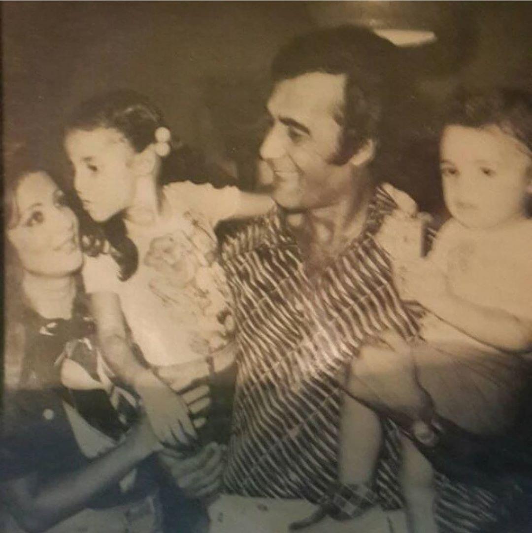 محمود ياسين وشهيرة وابنائهما رانيا وعمرو