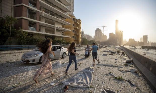 آثار تفجير بيروت
