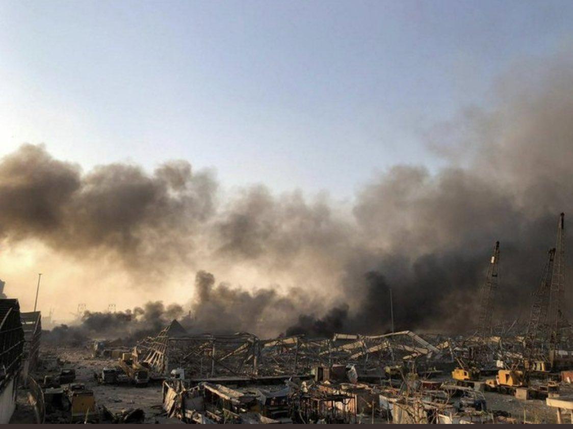 بيروت بعد الانفجار