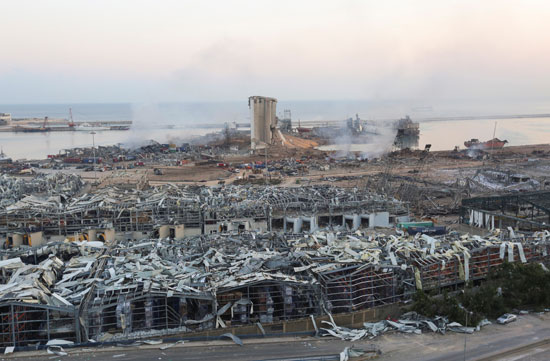 ميناء بيروت بعد الانفجار