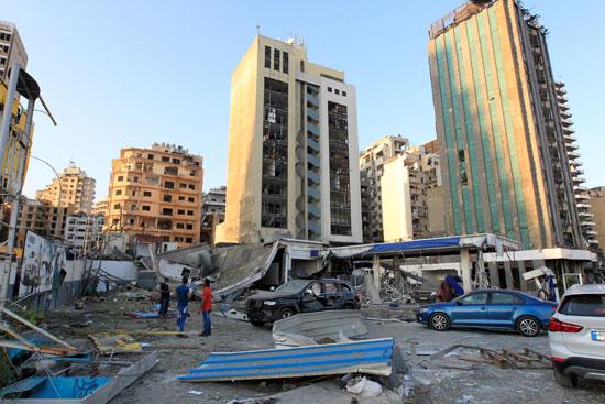 الدمار المحيط بميناء بيروت
